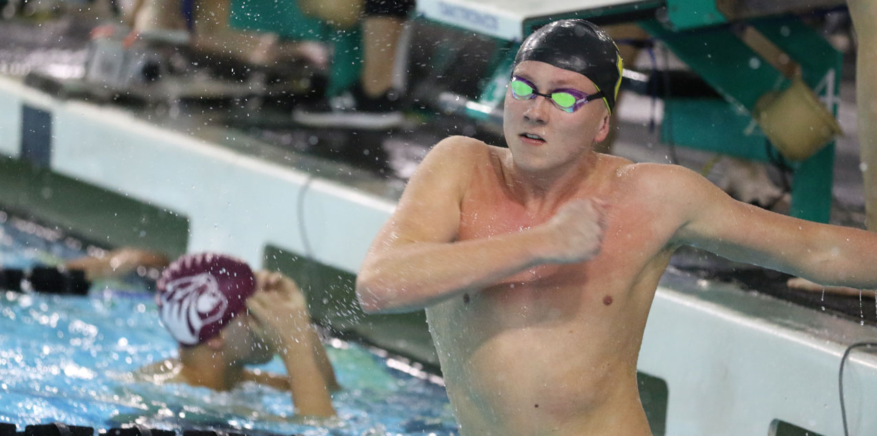 Men's Swimming Sets School Records To Widen Lead in SCAC Championships