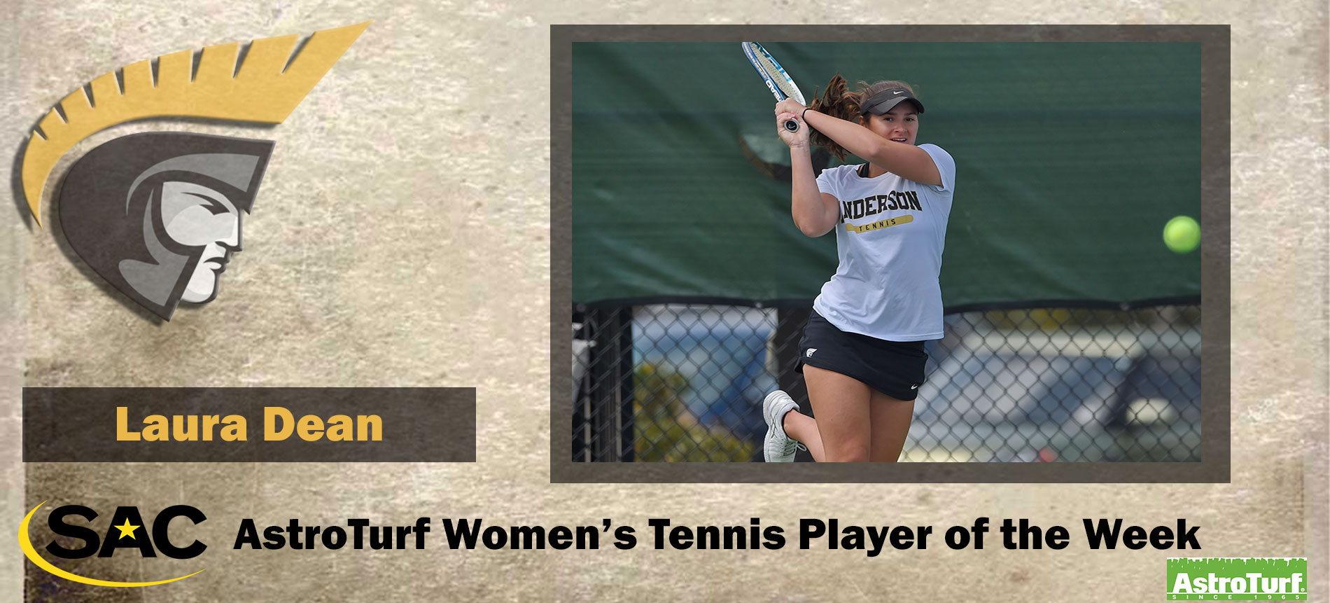 Dean Earns South Atlantic Conference AstroTurf Women's Tennis Player of the Week