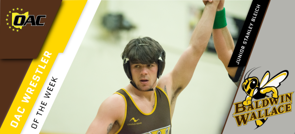 Bleich Bears Second OAC Wrestler of the Week Honor