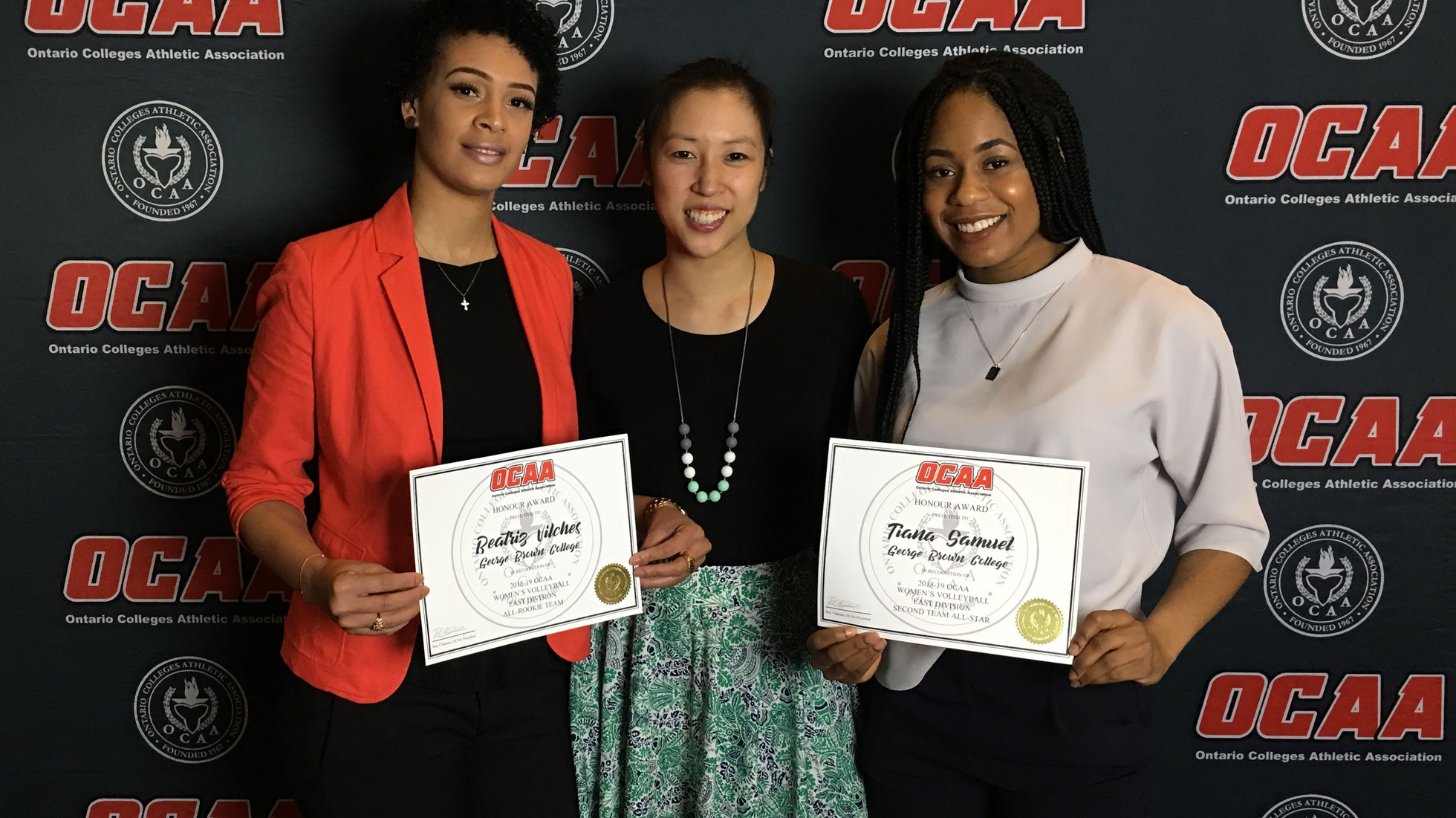 TIANA SAMUEL NAMED 2ND TEAM OCAA ALL-STAR, BEATRIZ VILCHES TO ALL-ROOKIE TEAM