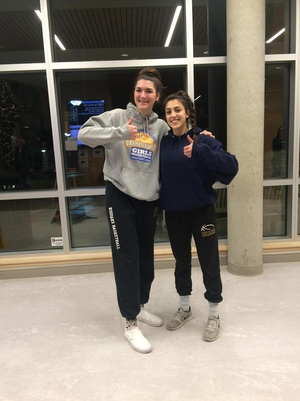 Heat bound Langley post, Emily Instant, and Saskatoon guard, Mira Witt, met in a December 2018 tournament on the Lower Mainland.