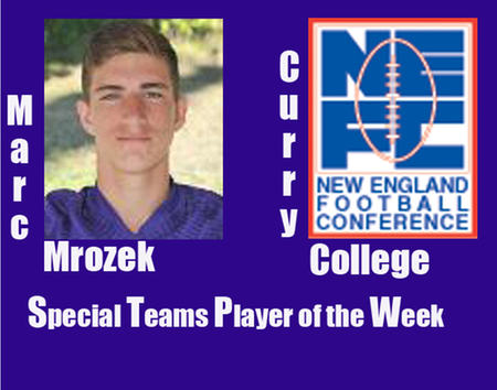 Mrozek Named NEFC Special Teams Player of the Week