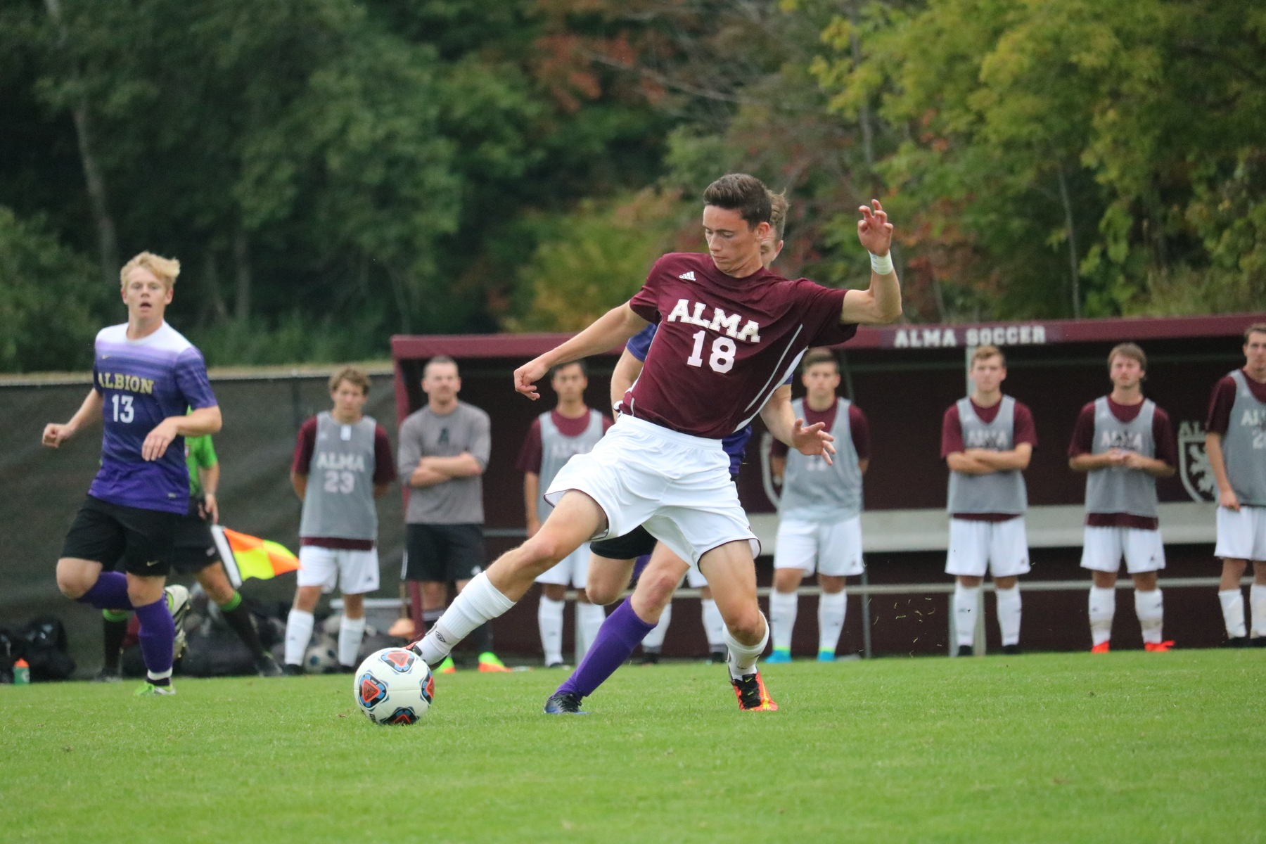 Men's Soccer Bests Albion for First Victory