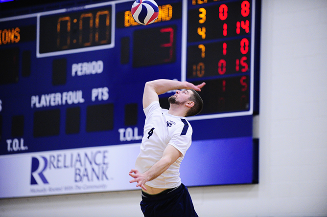 Men's Volleyball Falls Twice to Nationally-Ranked UVC Teams