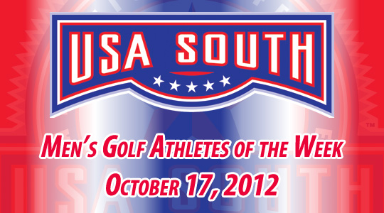 USA South Men's Golf Athletes of the Week - October 17, 2012