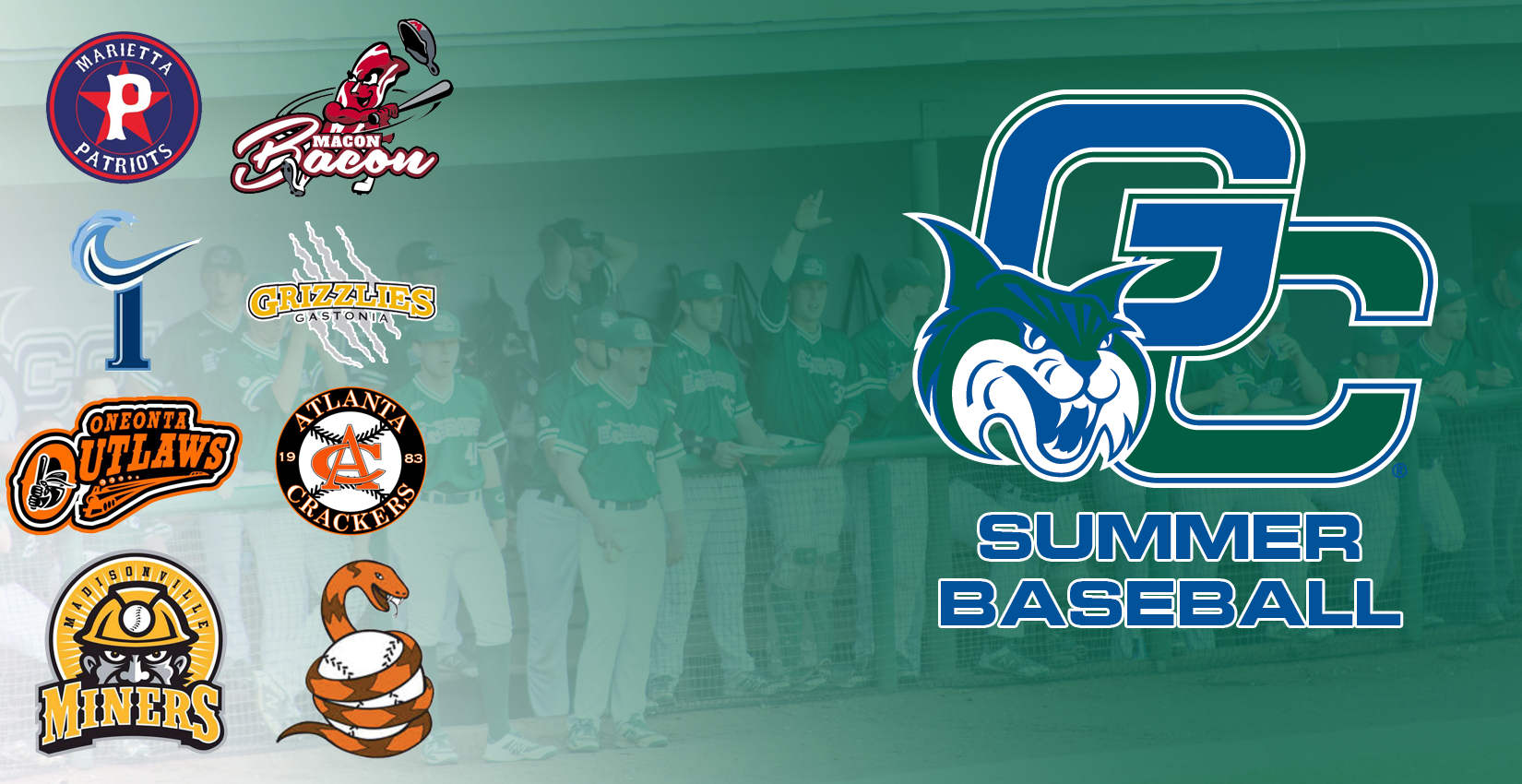 Logos from the teams the Bobcats played for this summer