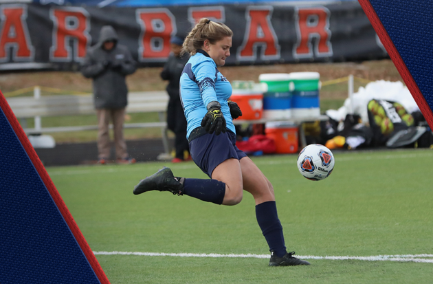 Sophomore goalie Amanda Steinberg made five saves for the Royals in Sunday's NCAA Tournament Second Round Game. Photo Credit: Ohio Northern Sports Information