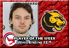 Adam Tracey-Wentworth, Men's Ice Hockey: Player of the Week
