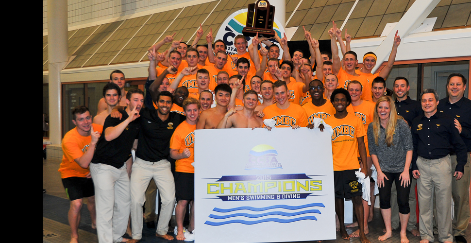 The Champs Are Here! UMBC Men's Swimming and Diving Takes the 2015 CCSA Crown
