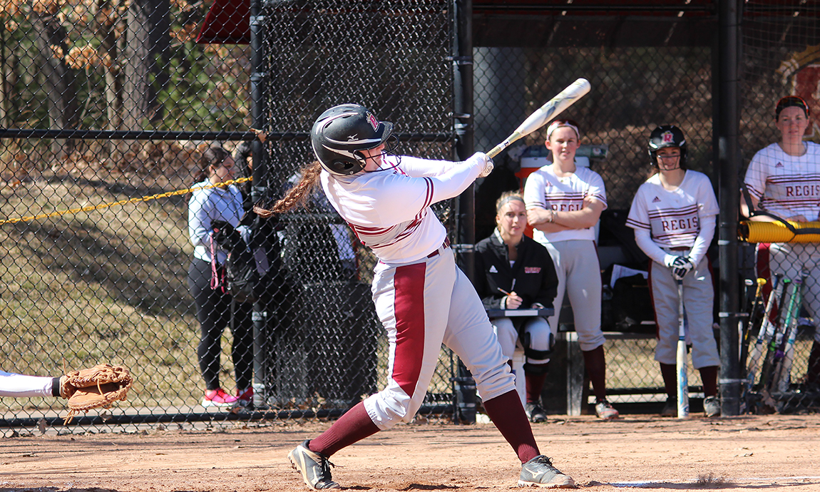 Regis Softball Loses Two Home GNAC Contests Sunday