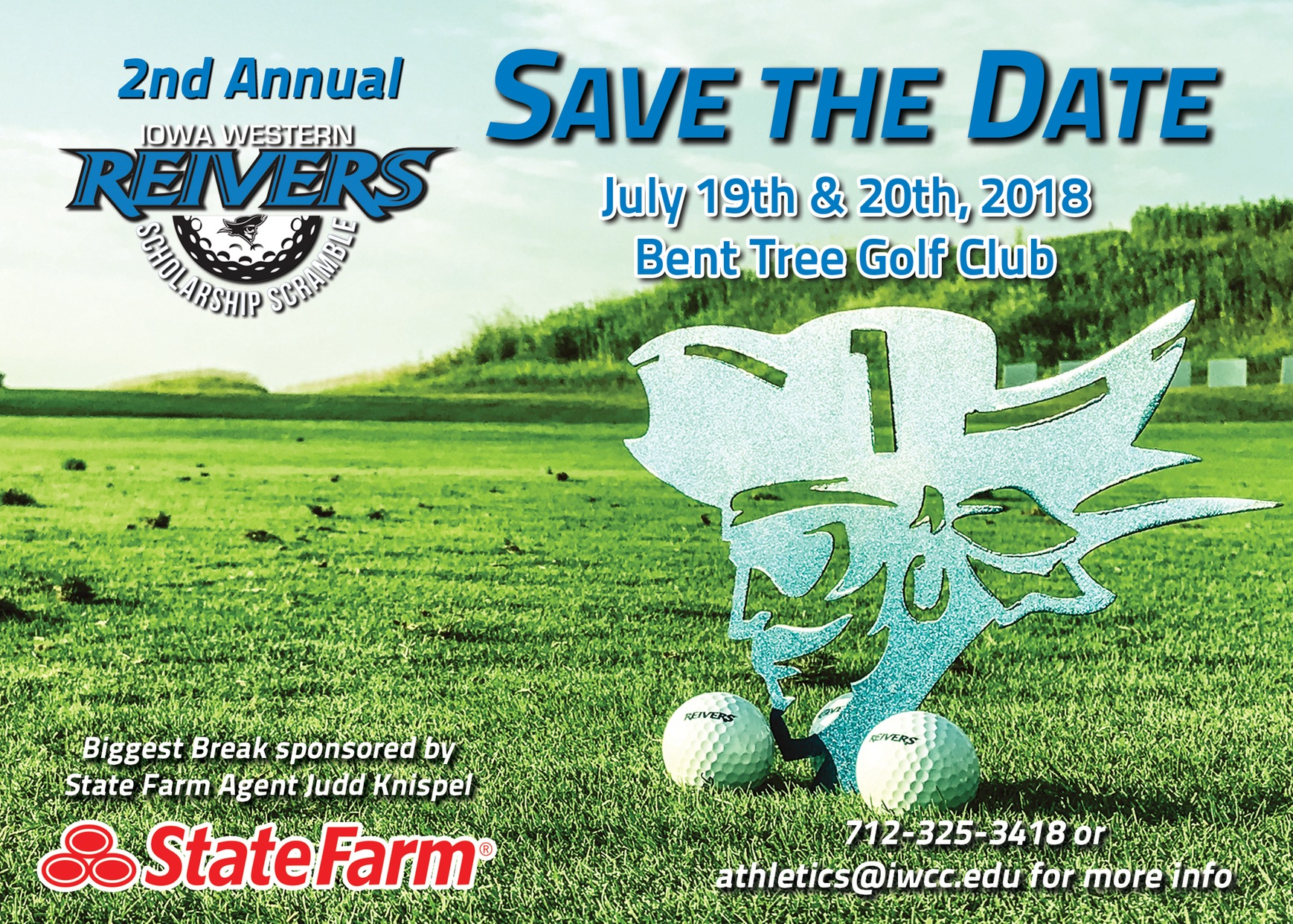 SCHOLARSHIP SCRAMBLE JUST 1 WEEK AWAY!  Limited 4-person teams are available for the 2nd annual Reiver Scholarship Scramble.
