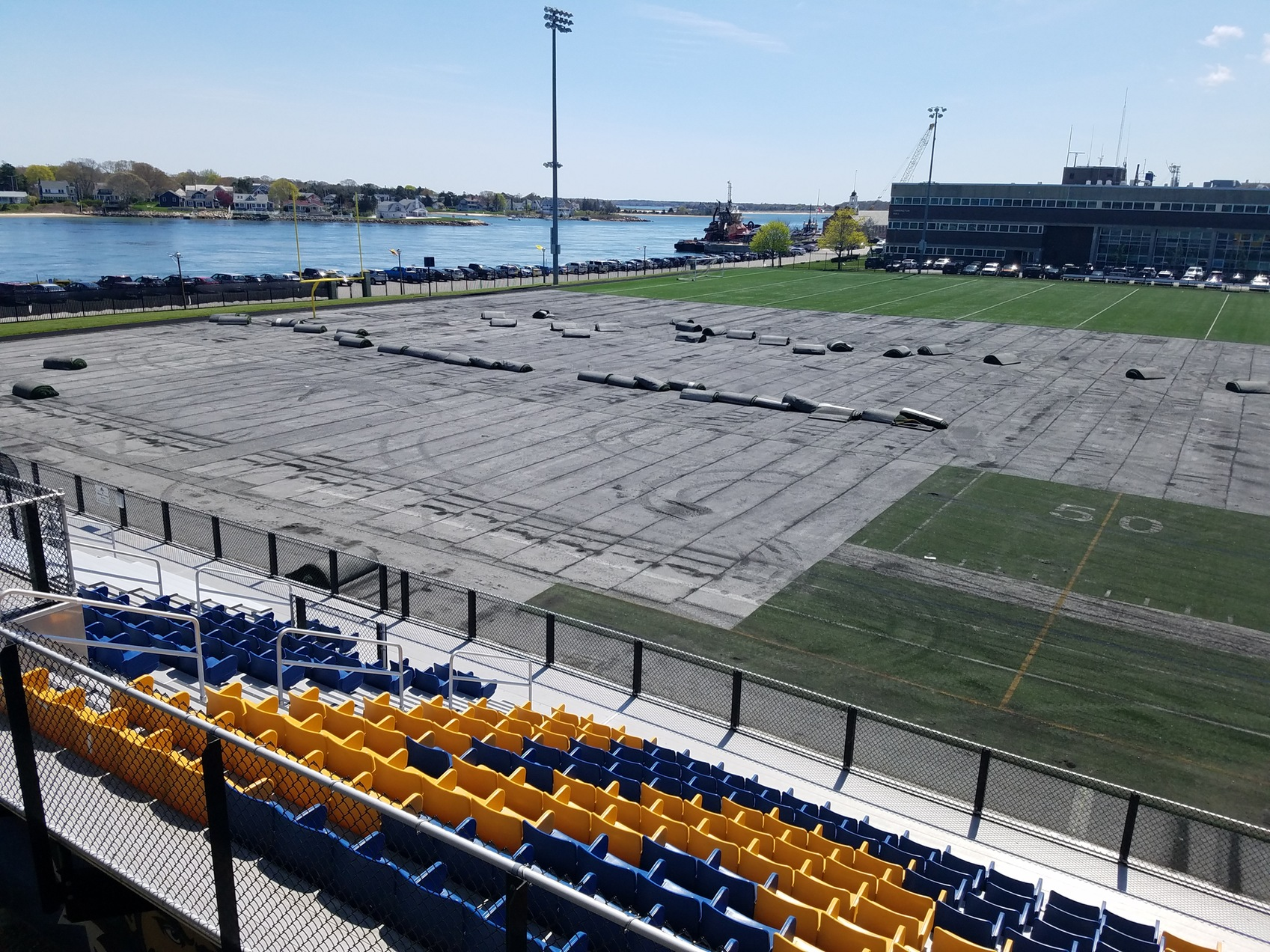 Work Begins on Clean Harbors Stadium Playing Surface