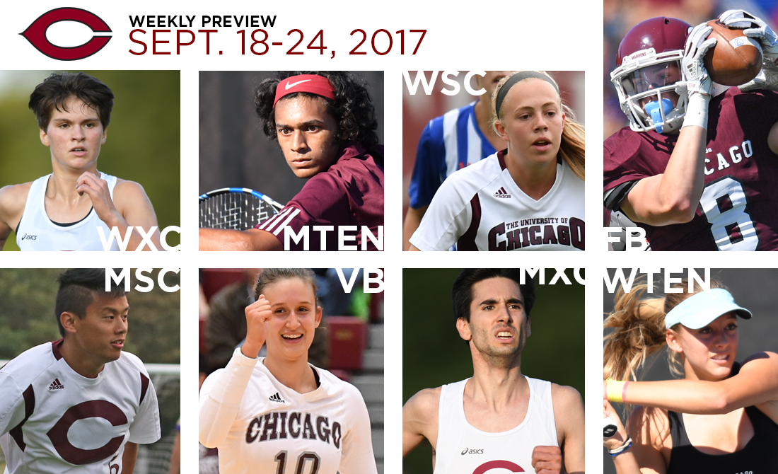 UChicago Athletics Preview: Sept. 18-24