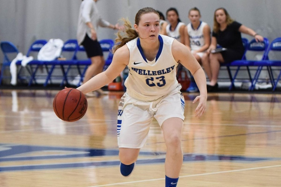 Senior Chelsea Brown dropped in a career-high 18 points in the win (Julia Monaco).