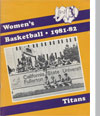 1981-82 Women's Basketball Media Guide Cover
