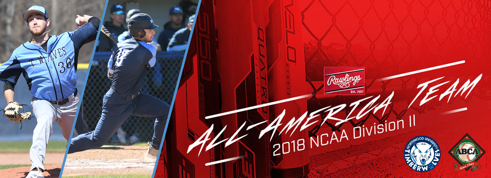 Northwood's Jandron, Vinsky Named ABCA/Rawlings Division II Baseball All-Americans