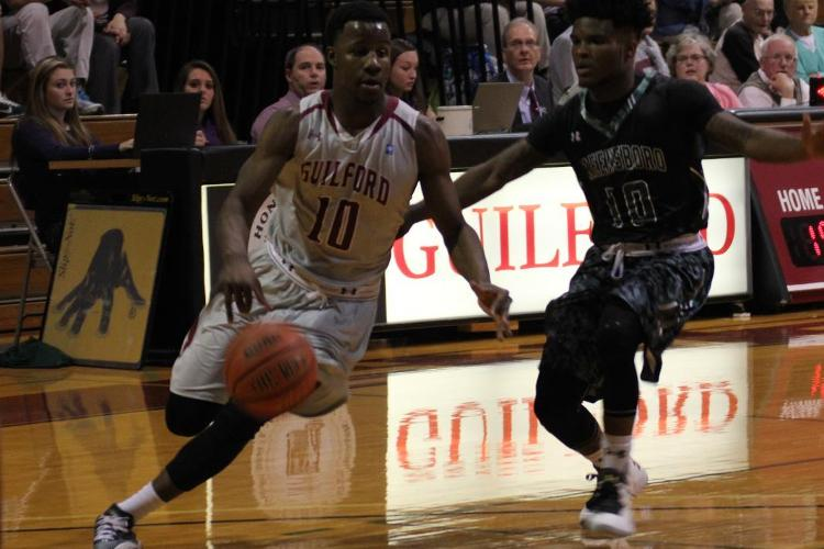 Mayo's Late Three Pulls Quakers Away from Greensboro