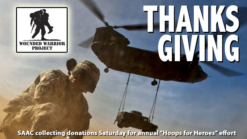 "Fans can say ""thank you"" with donations Saturday to Wounded Warrior Project"
