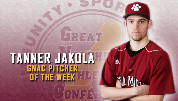Jakola Named GNAC Pitcher of the Week