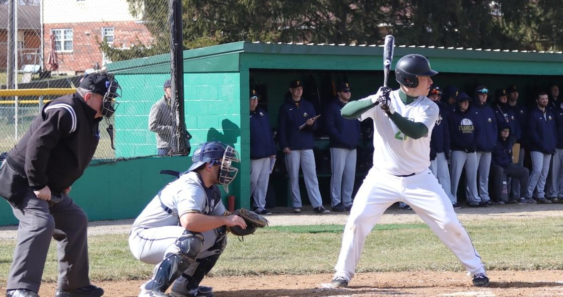 Baseball Earns Split at Franklin in Offensive Doubleheader