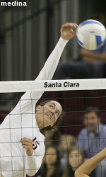 SCU Volleyball Falls 3-0 To USF