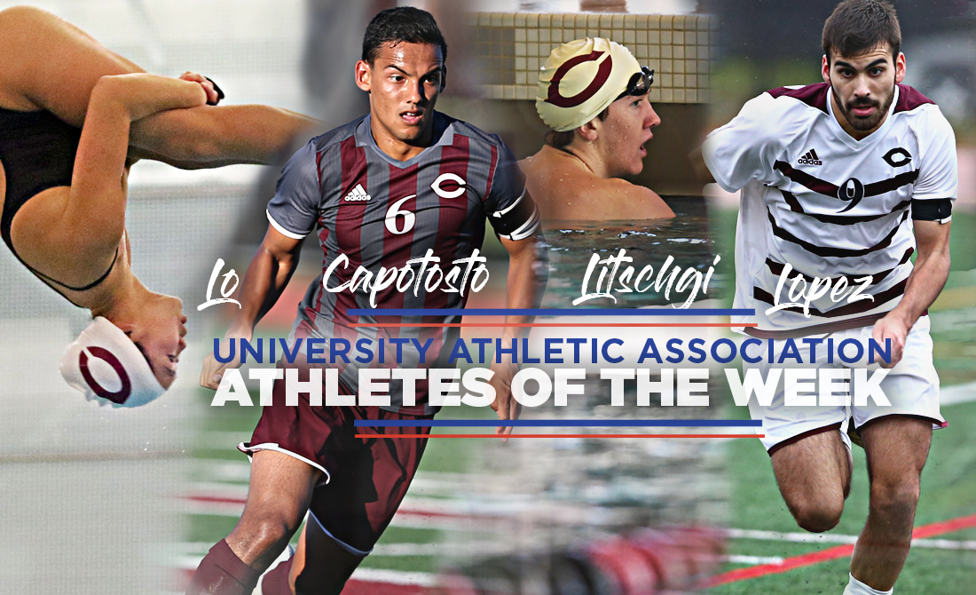 UAA Selects Four Maroons as Athletes of the Week