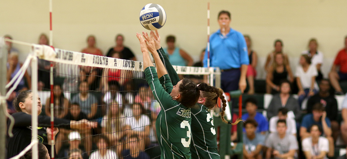 Sage volleyball falls in E8 action on Saturday