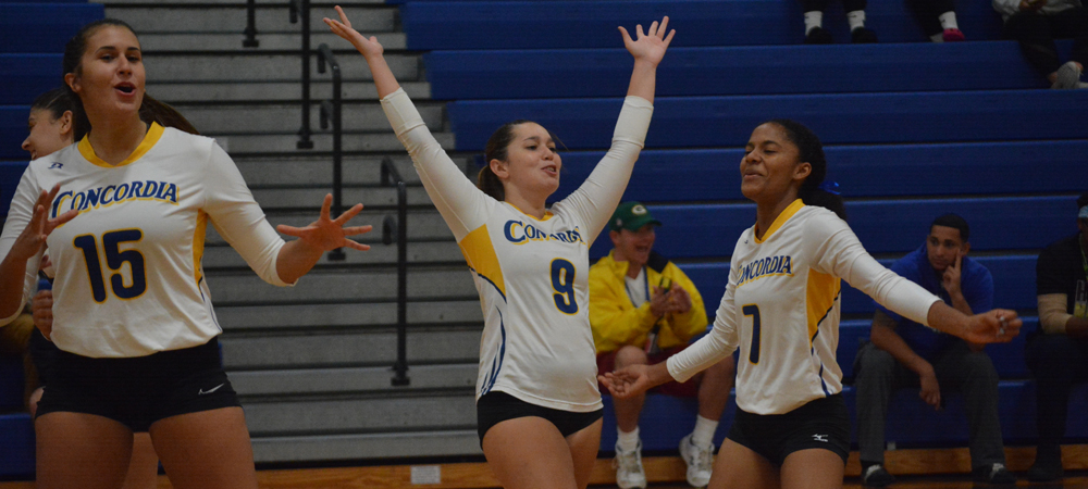 Volleyball Soars Past Post, 3-1