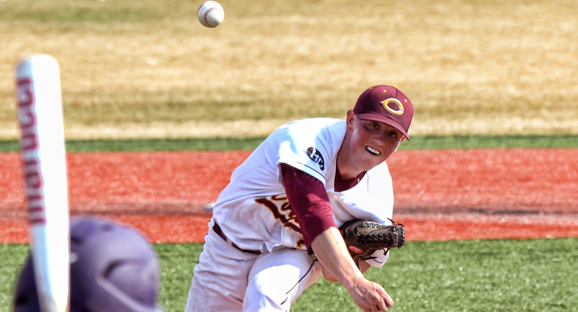 Senior Cole Christensen earned his second straight complete-game win over Hamline as he helped the Cobbers beat the Pipers 6-3 in Game 1.
