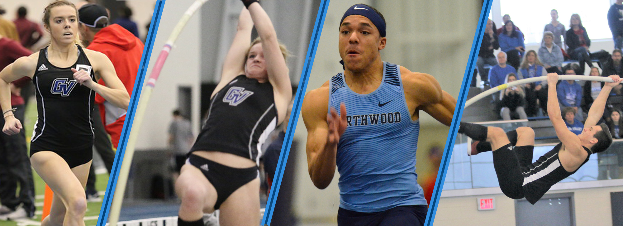 GVSU's Walters, Kimes and Battani, and Northwood's Phillips are named track and field athletes of the week