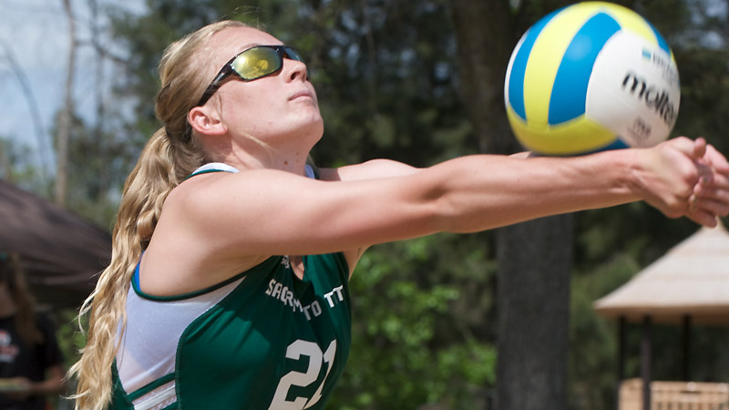 SAND VOLLEYBALL KNOCKS OFF CAL FOR THE SECOND TIME