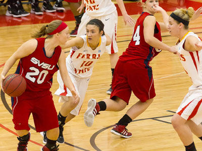 Bulldogs Race Past SVSU In Women's Play