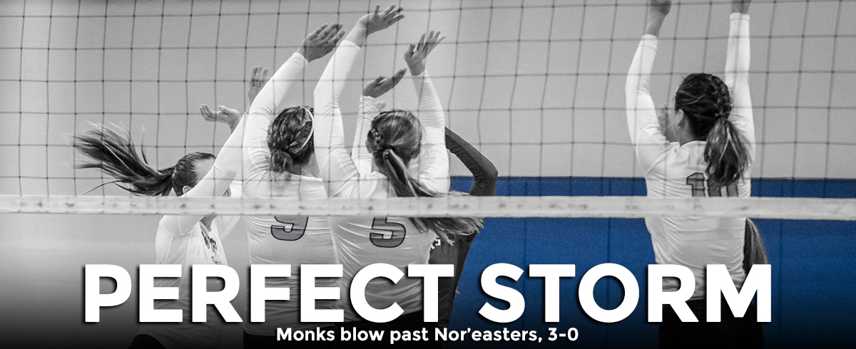 Monks Blow Past Nor'easters, 3-0