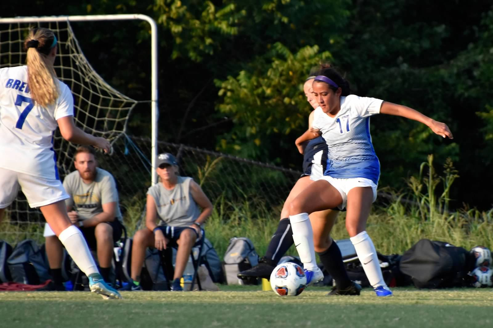 Freshman midfielder Brianna Link's game-winning golden goal in overtime pushes the Tornados past the Wildcats (Courtesy of John Innis).