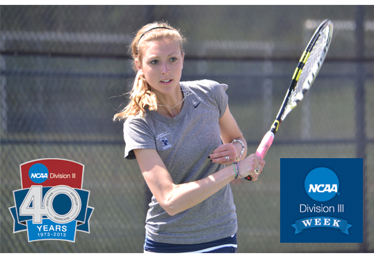 "Women's Tennis Standout Alex Ritter Featured in Wednesday's ""Why UMW?"" D3 Week Profile"
