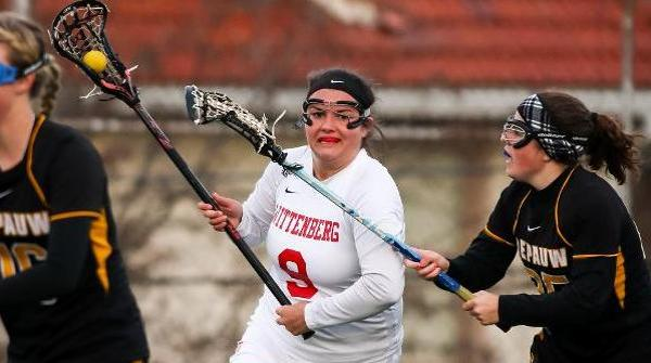 Olivia Lash was one of three Tigers with three goals in a 15-14 win over Denison. File Photo | Erin Pence