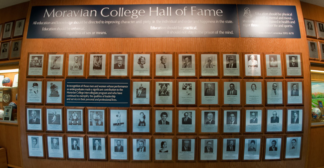 Moravian College Hall of Fame Display