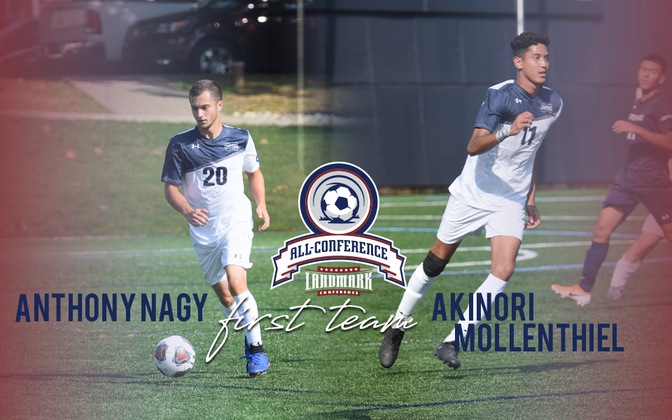 Anthony Nagy and Akinori Mollenthiel named to Landmark All-Conference Men's Soccer First Team