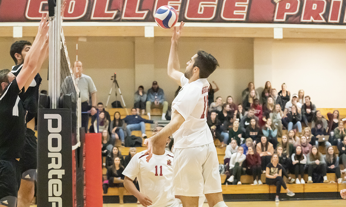 Men's Volleyball Drops Two GNAC Contests