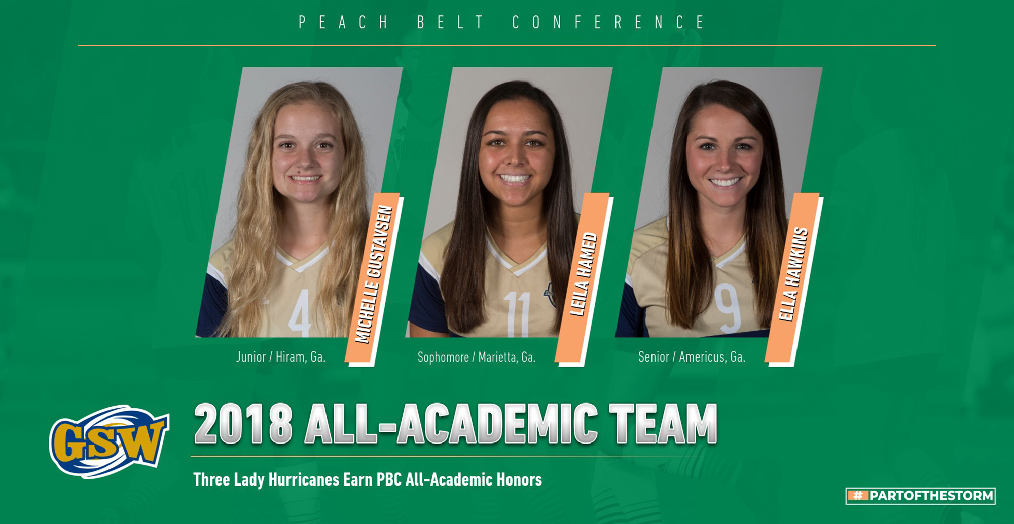 Trio of Lady Hurricanes Named 2018 PBC All-Academic