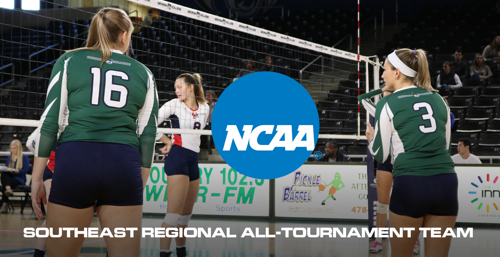 GC Volleyball's Svehla and Brockway Named to NCAA Regional All-Tournament Team