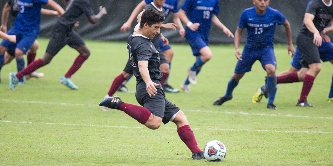 Junior Gabe Rodriguez netted his first game-winning goal of his collegiate career (Photo courtesy of Curt Youngblood).