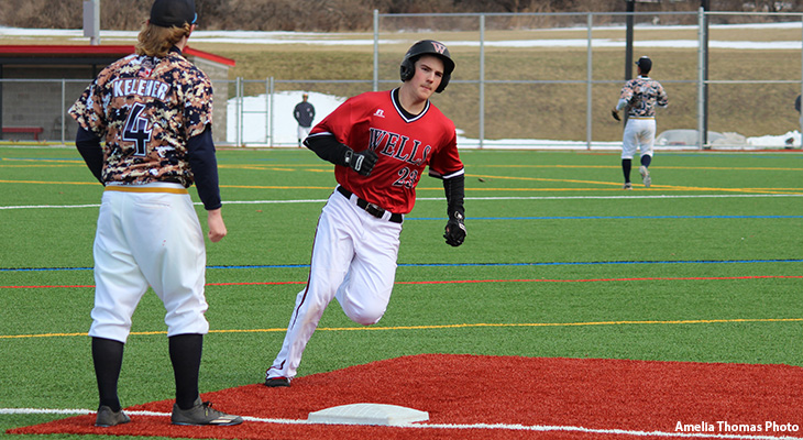 Wells Baseball Splits At Cazenovia