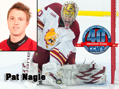 Ferris' Pat Nagle Selected CCHA Goaltender Of The Week