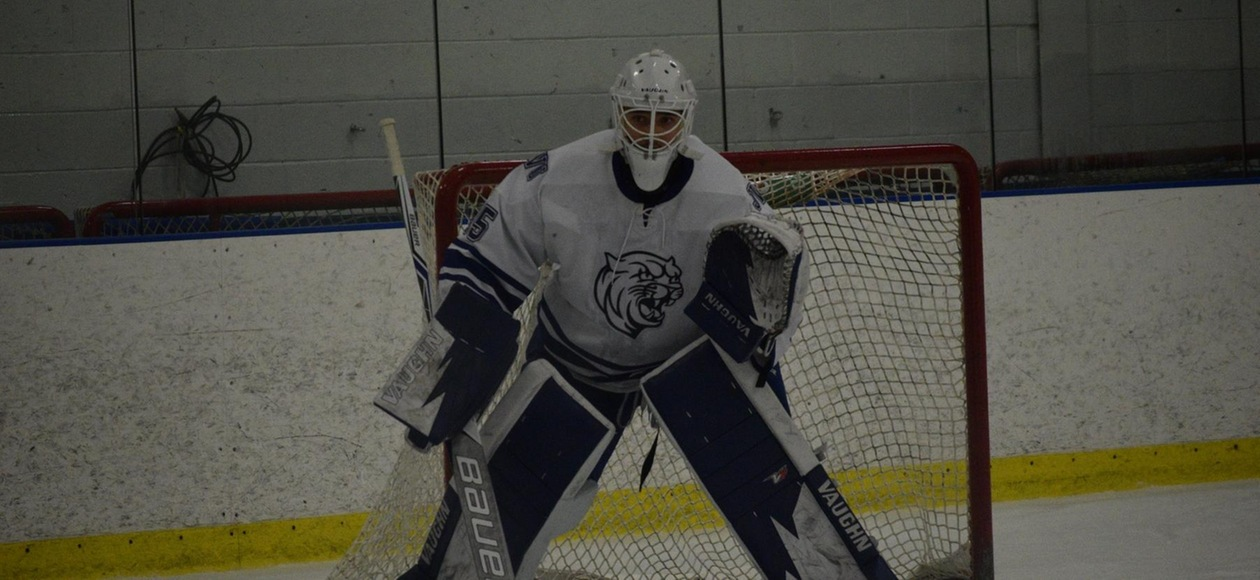Rockwell's Shutout Gives Men's Hockey a 2-0 Win over Becker