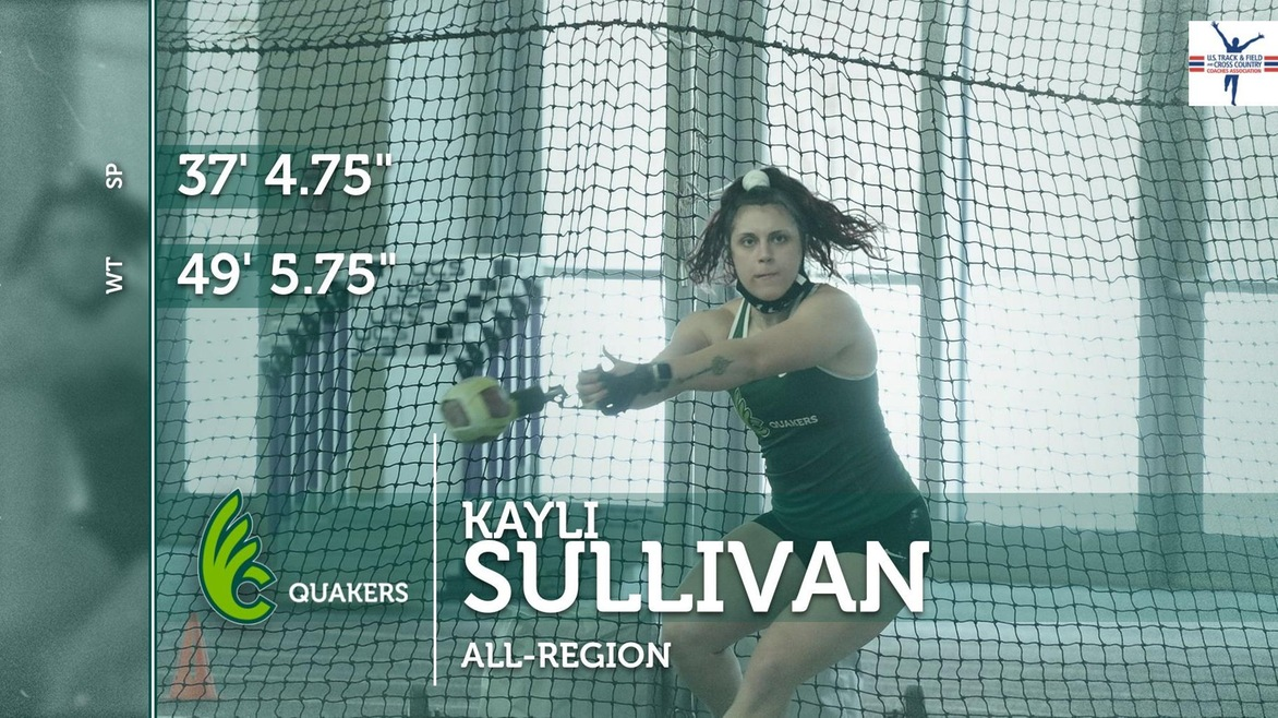 Sullivan Named All-Great Lakes Region in Shot Put and Weight Throw