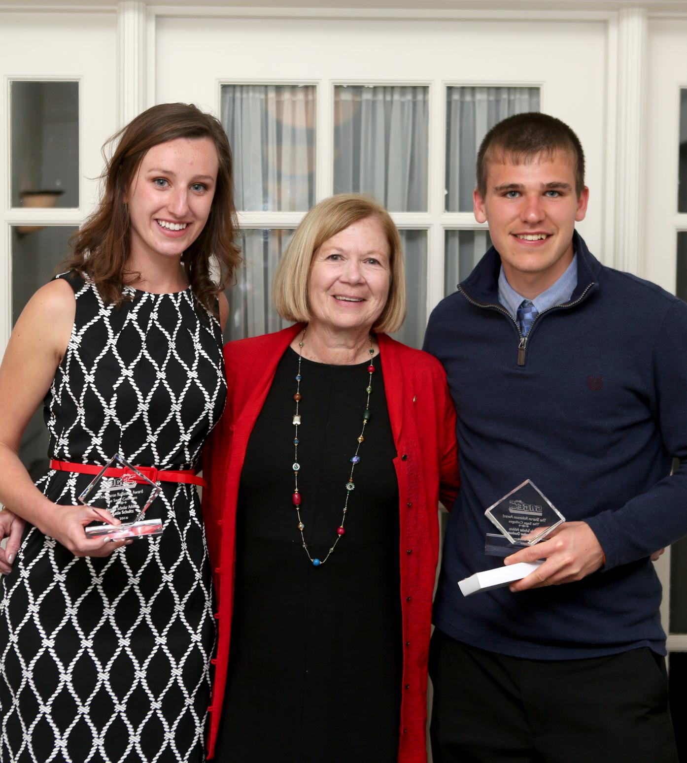 Chris Dunham and Katie Schultz Honored with Dean Sharon Robinson Scholar-Athlete Award