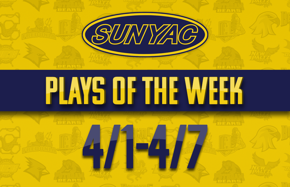 SUNYAC Spring Plays of the Week - April 1-7