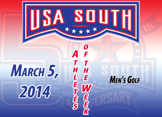 USA South Men's Golf Athletes of the Week - March 5, 2014