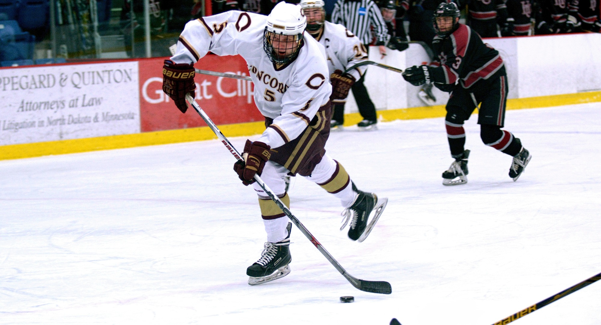 Freshman Tanner Okeson scored his first collegiate goal in the Cobbers' series finale at Augsburg.